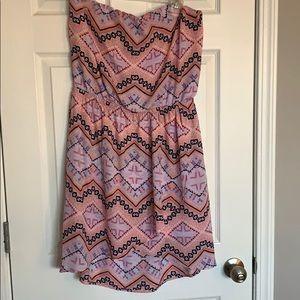 Large express Aztec strapless dress